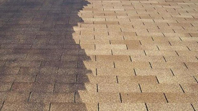 Ormond Beach Florida Roof Cleaning - Before and After