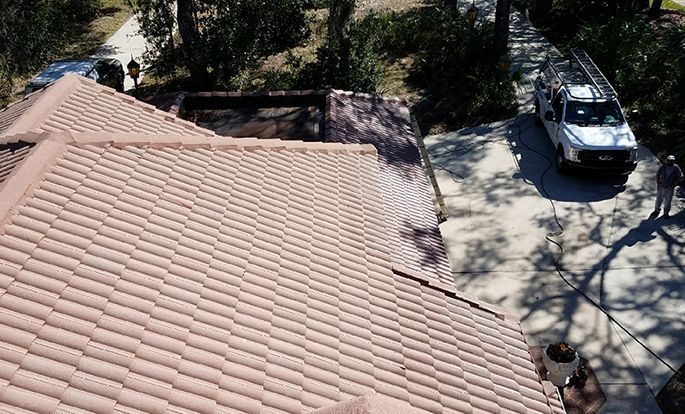 Roof-Bright of Florida - after tile roof is cleaned